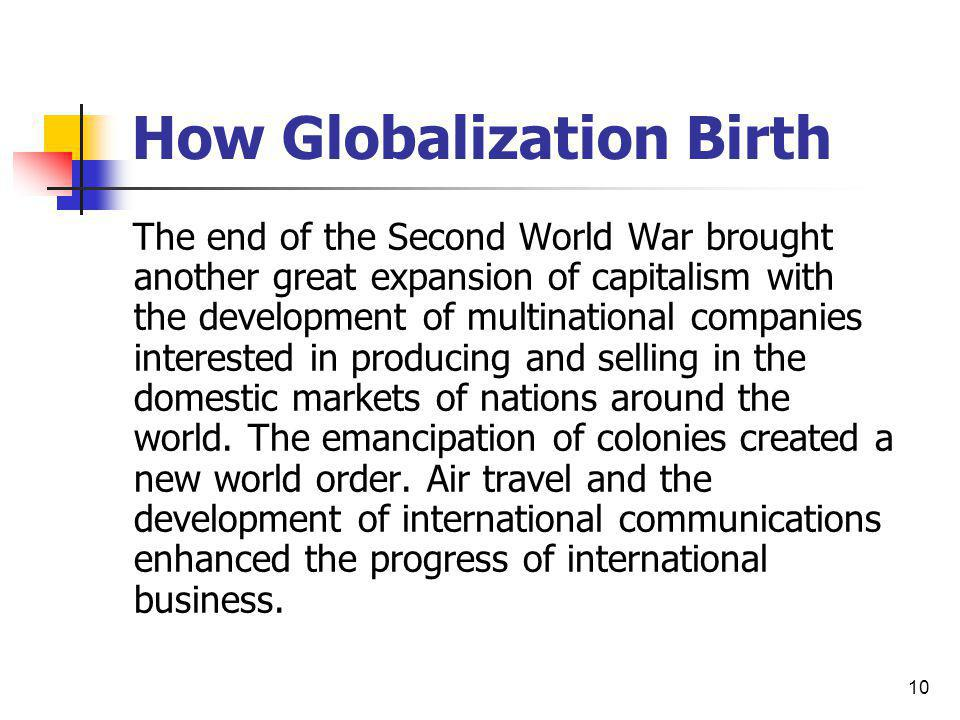 How Globalization Birth