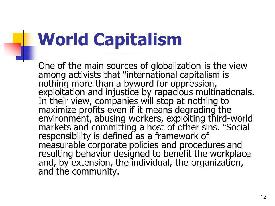 World Capitalism