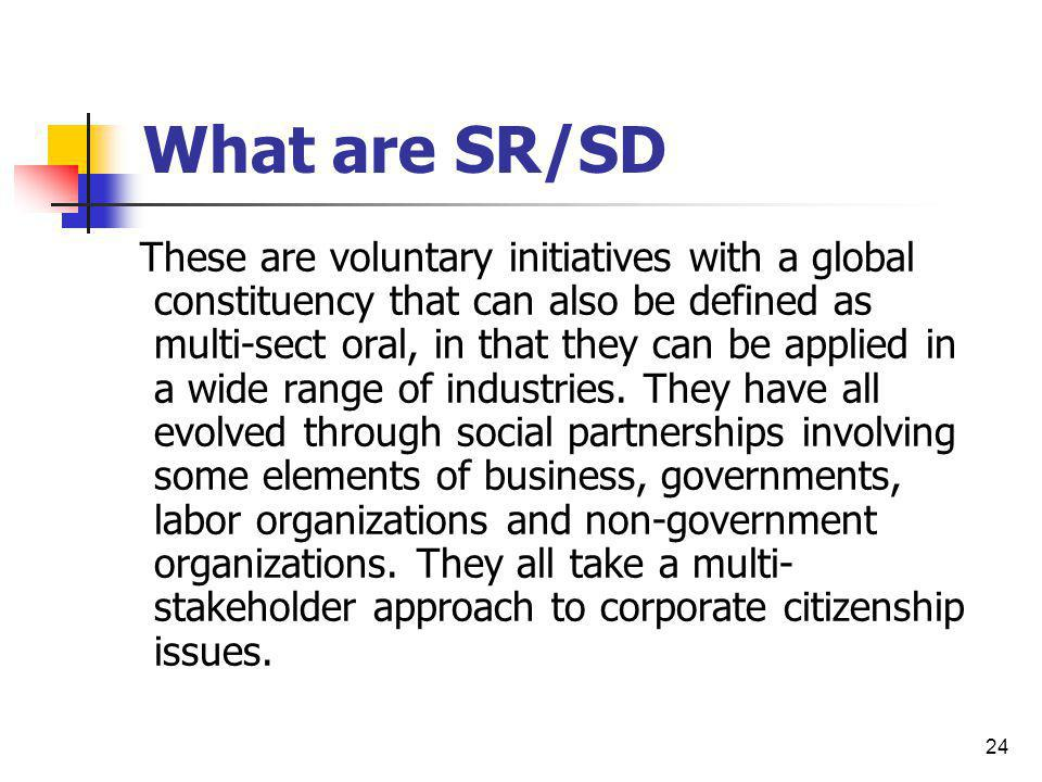 What are SR/SD