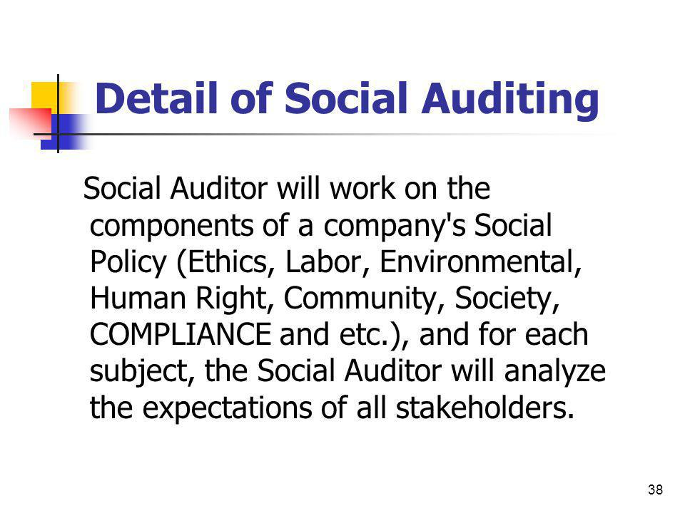 Detail of Social Auditing