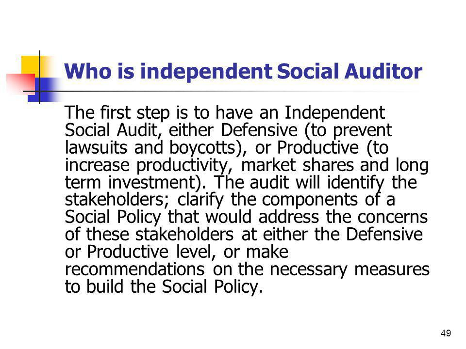 Who is independent Social Auditor