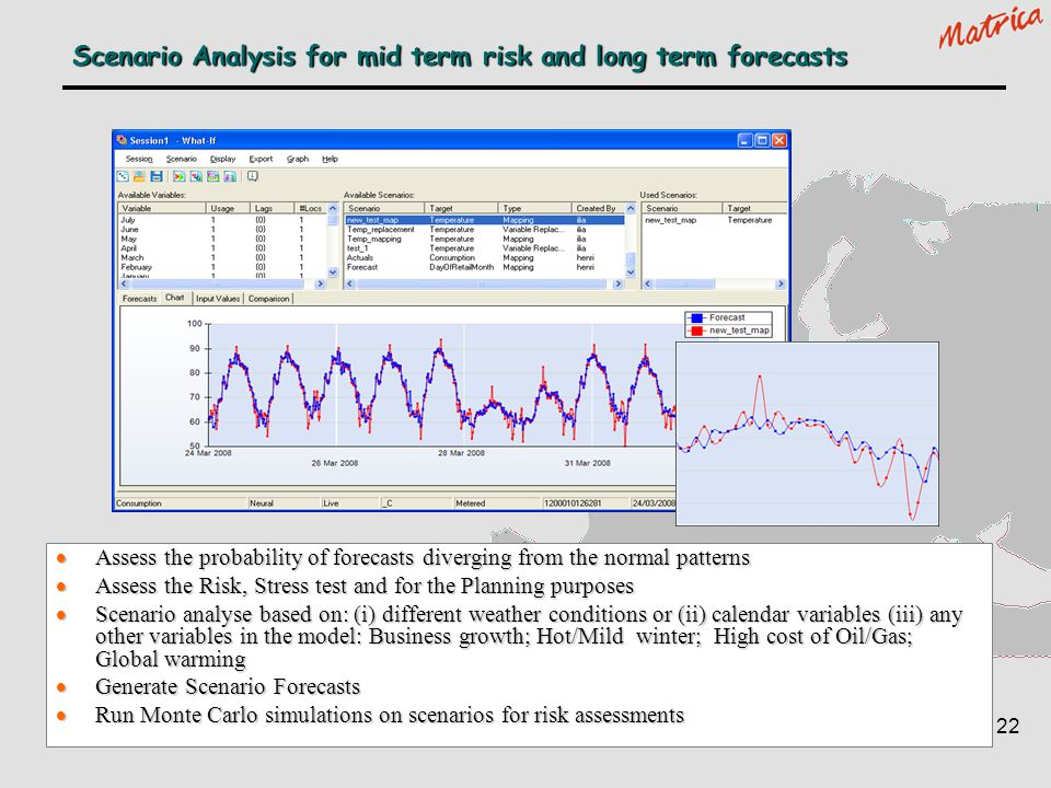 Scenario Analysis for mid term risk and long term forecasts