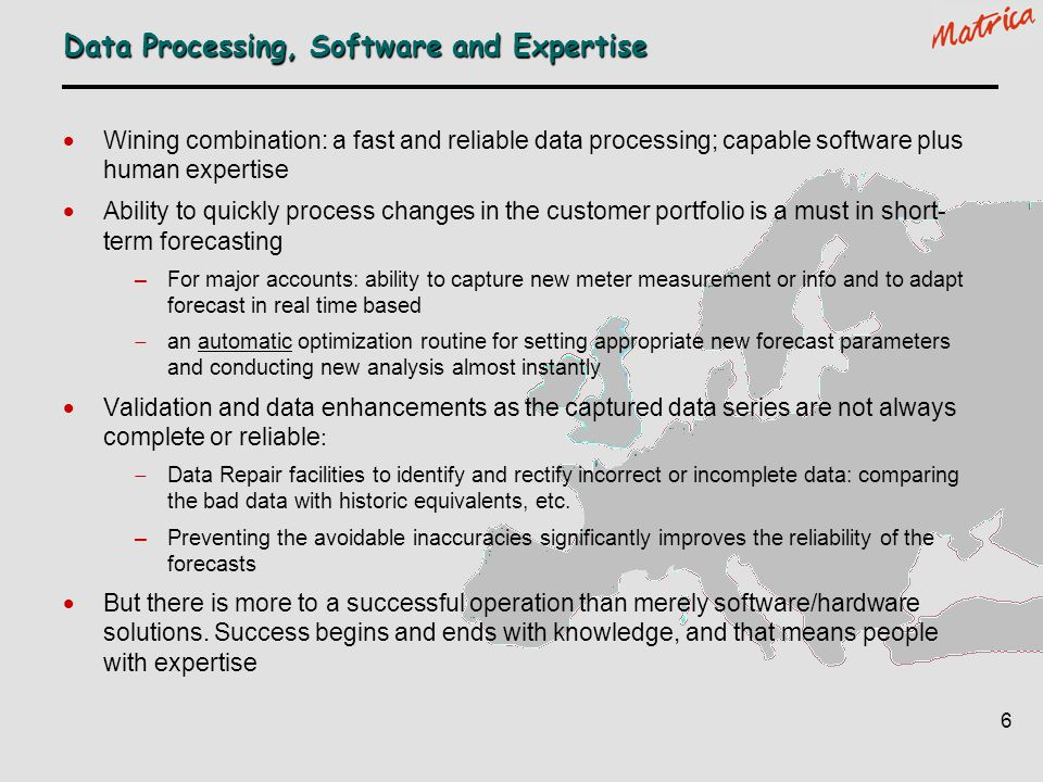 Data Processing, Software and Expertise