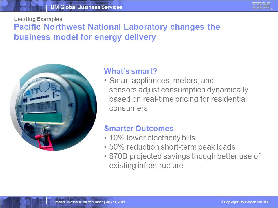Leading Examples Pacific Northwest National Laboratory changes the business model for energy delivery.