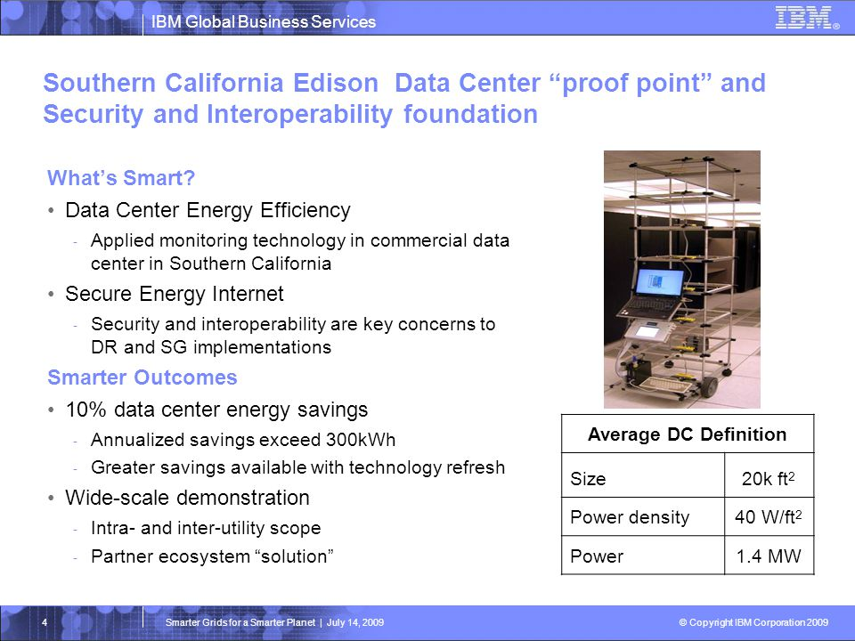 Southern California Edison Data Center proof point and Security and Interoperability foundation