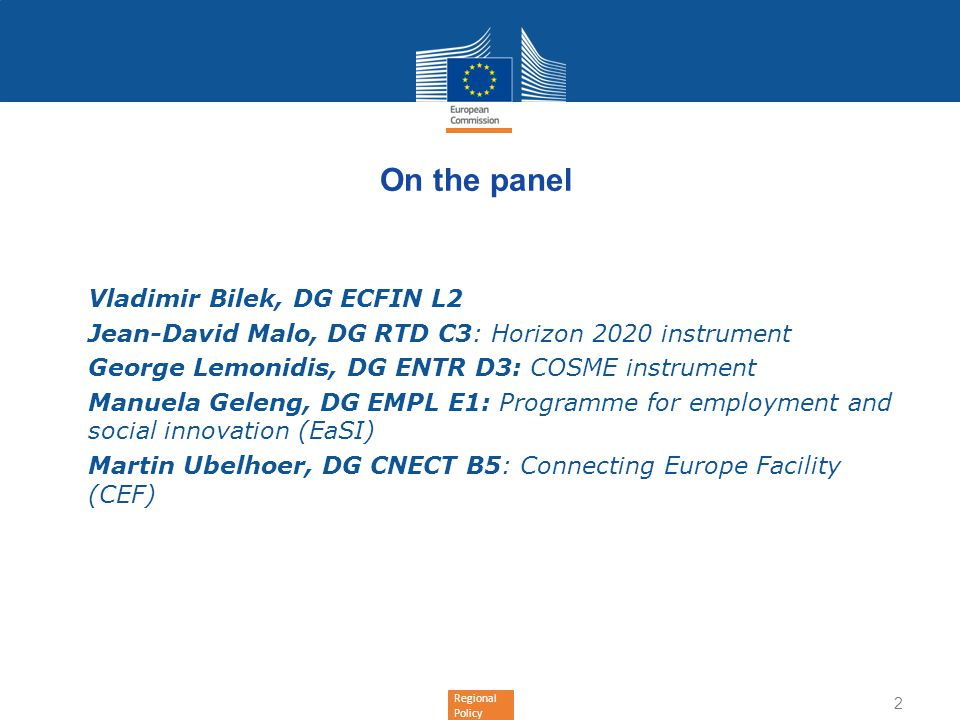 On the panel Vladimir Bilek, DG ECFIN L2