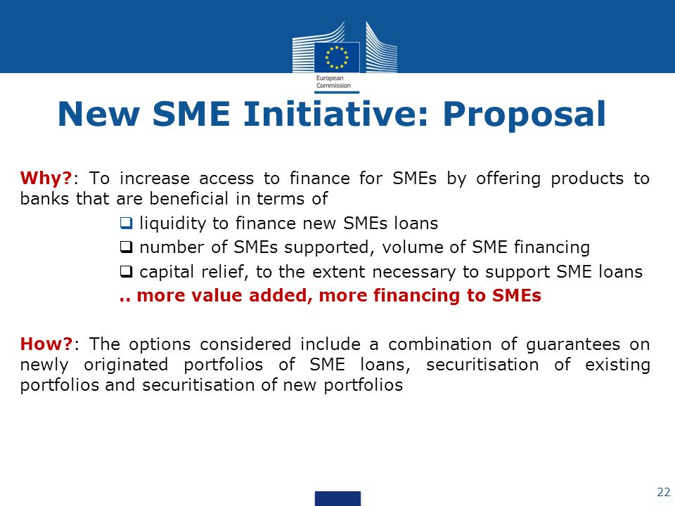 New SME Initiative: Proposal