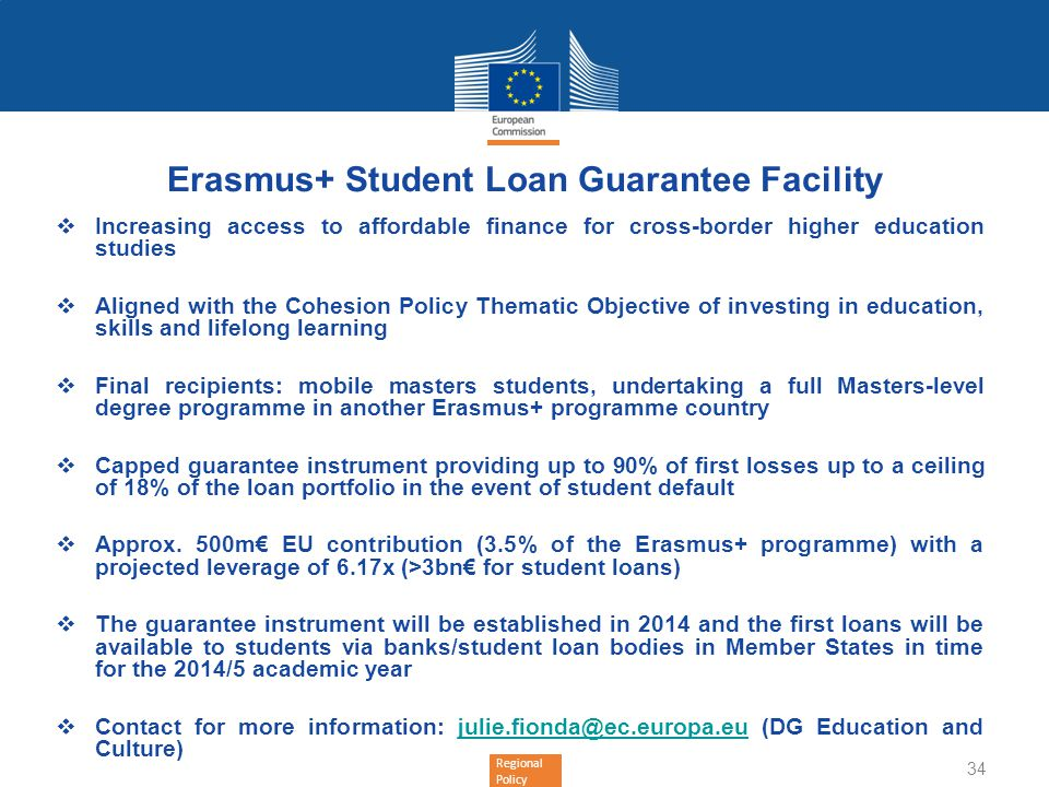 Erasmus+ Student Loan Guarantee Facility