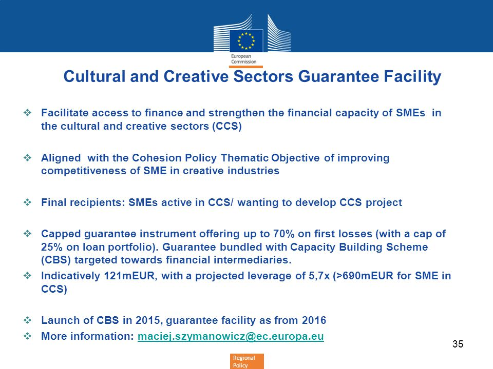 Cultural and Creative Sectors Guarantee Facility