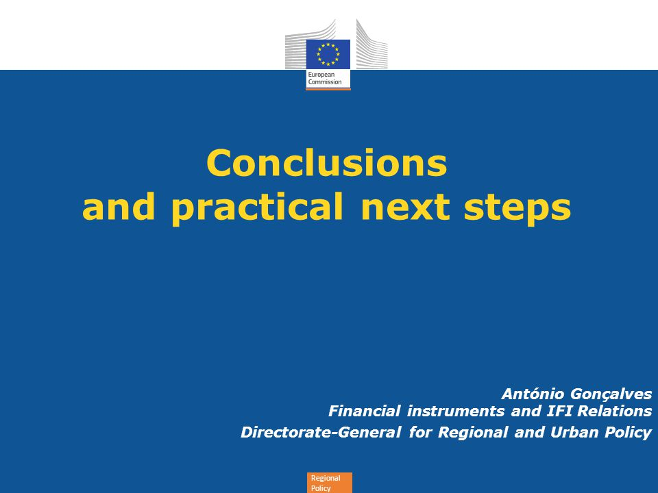 Conclusions and practical next steps