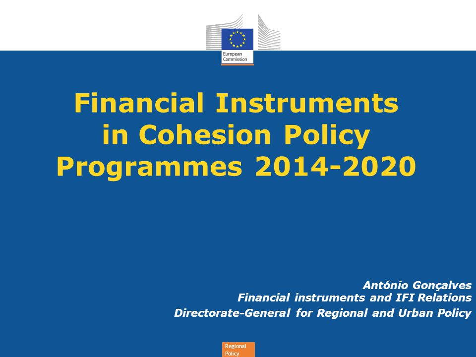 Financial Instruments in Cohesion Policy Programmes 2014-2020