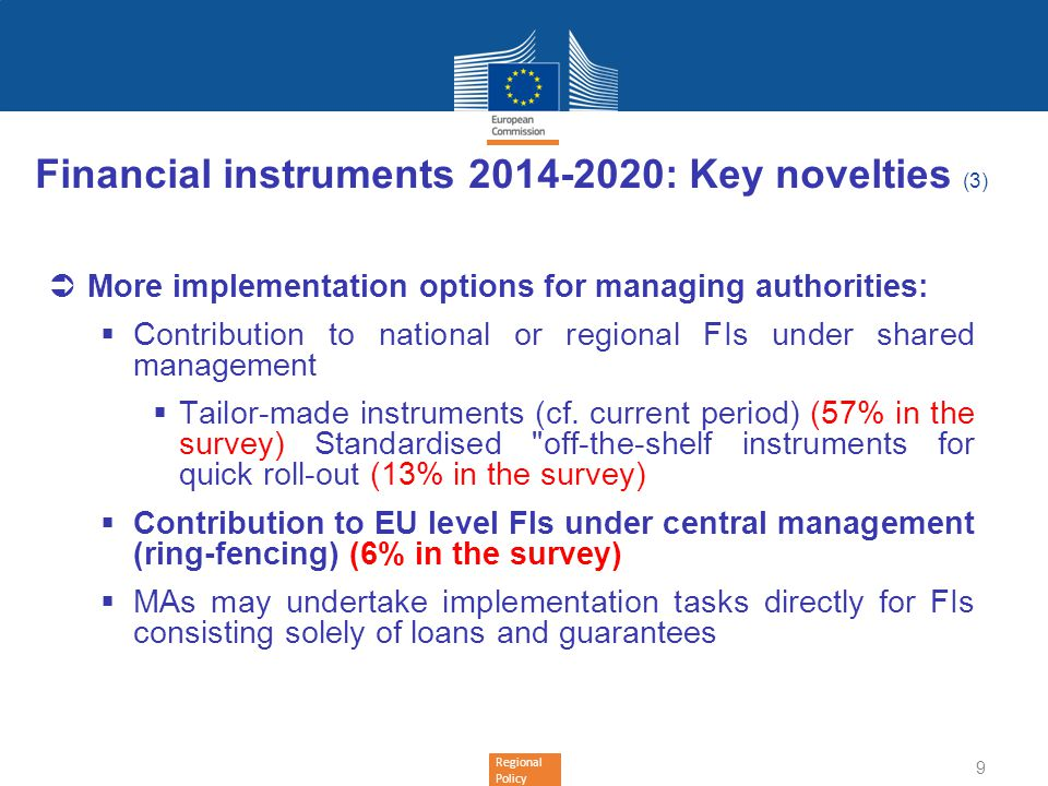 Financial instruments 2014-2020: Key novelties (3)