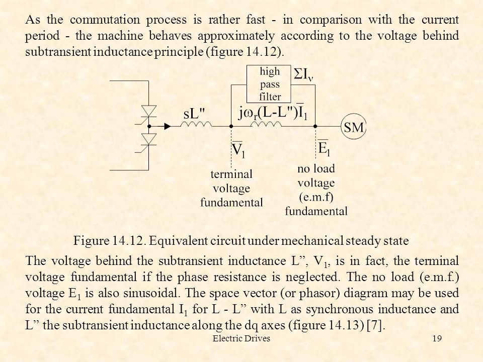 Figure 14.12. Equivalent circuit under mechanical steady state