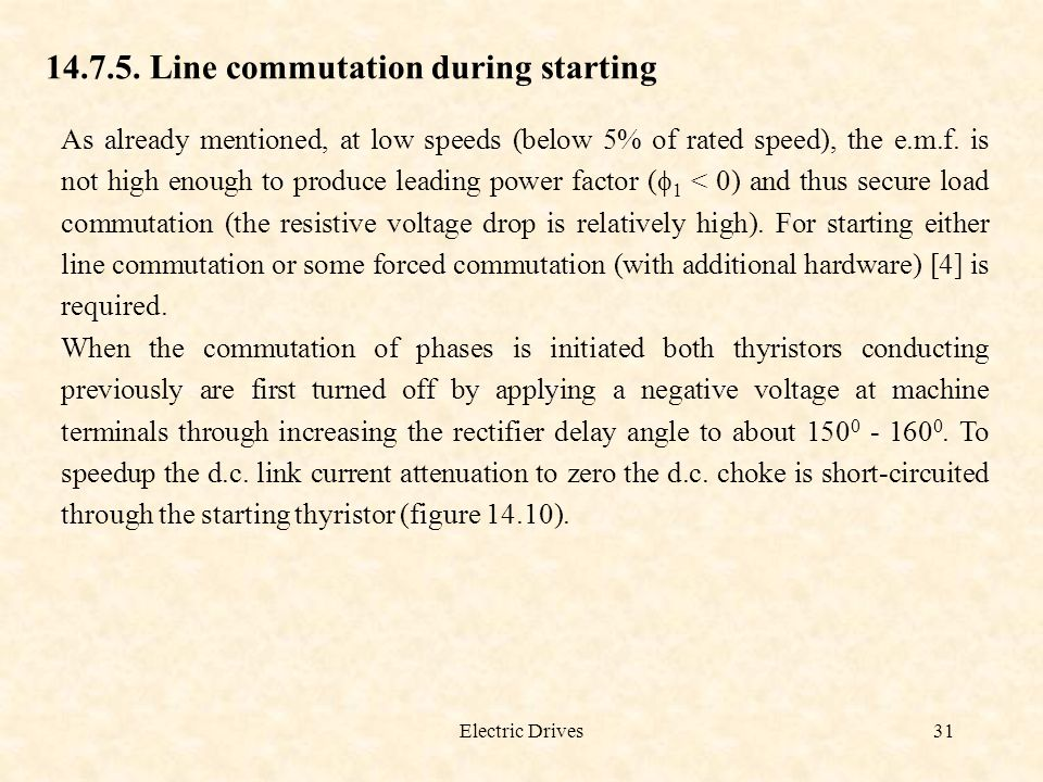 14.7.5. Line commutation during starting