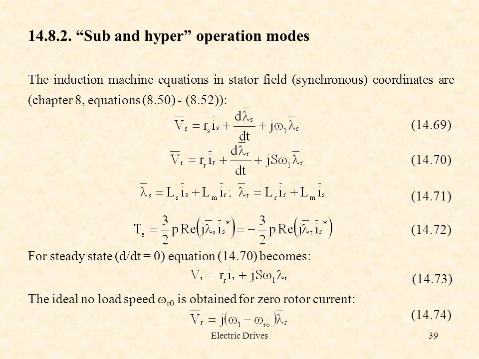 Sub and hyper operation modes