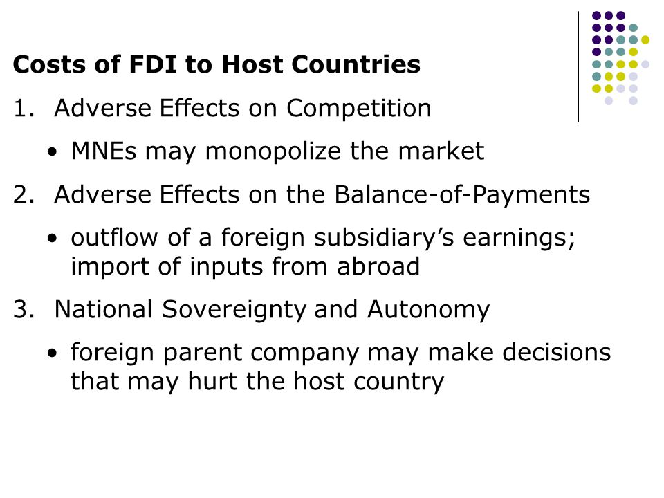 Foreign Direct investment (FDI) and its effects on the host and home countries