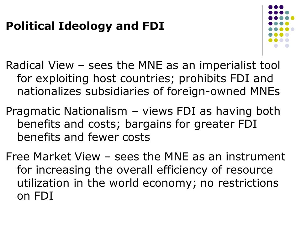 Political Ideology and FDI