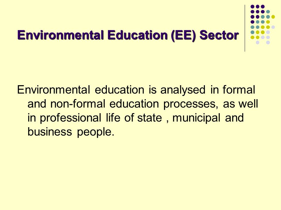 Environmental Education (EE) Sector