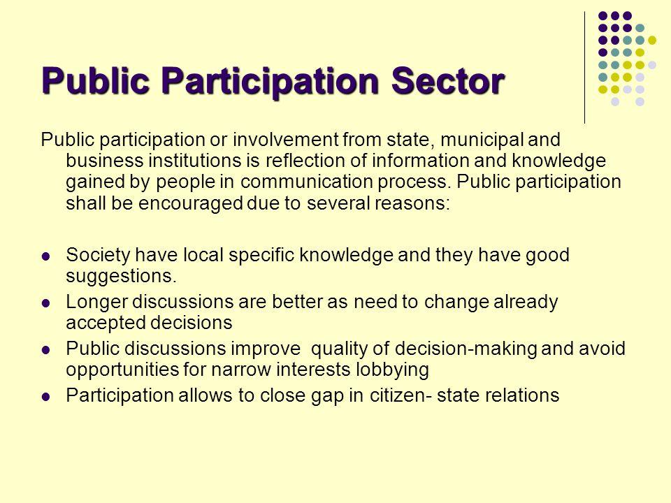 Public Participation Sector