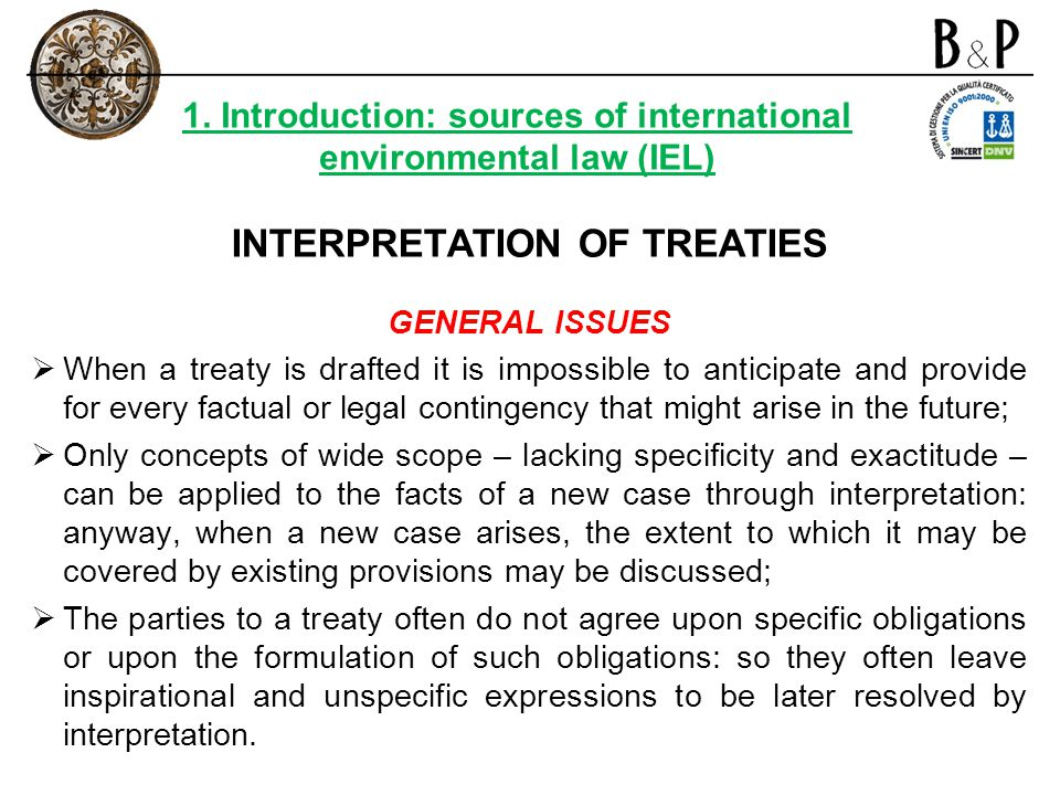 INTERPRETATION OF TREATIES