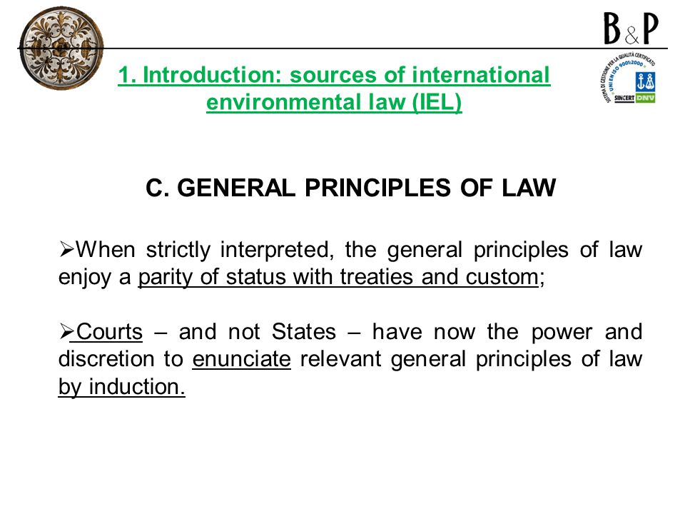 C. GENERAL PRINCIPLES OF LAW