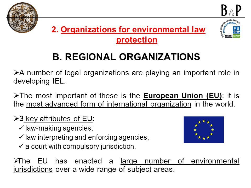 B. REGIONAL ORGANIZATIONS