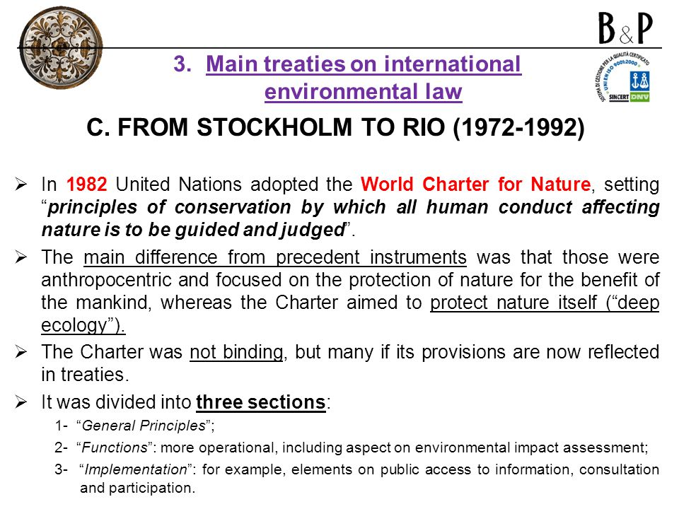 C. FROM STOCKHOLM TO RIO ( )