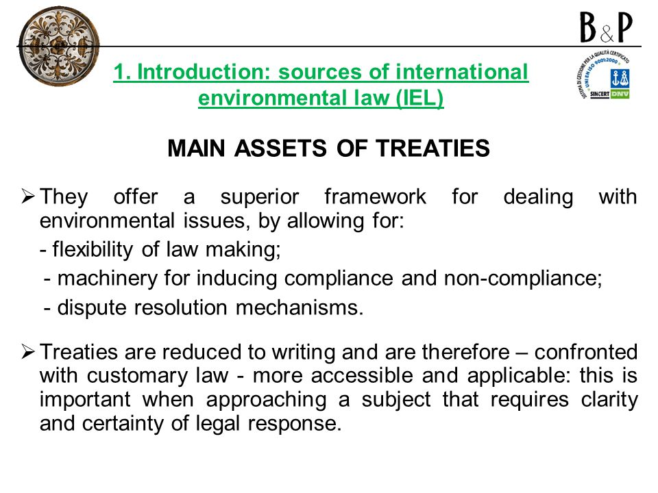 MAIN ASSETS OF TREATIES