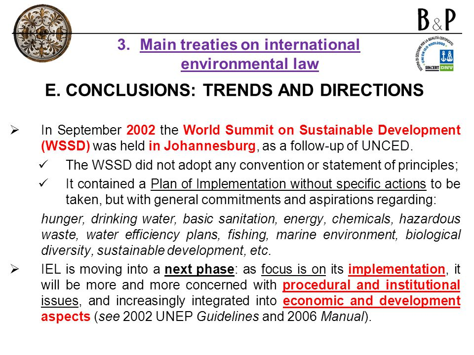 E. CONCLUSIONS: TRENDS AND DIRECTIONS