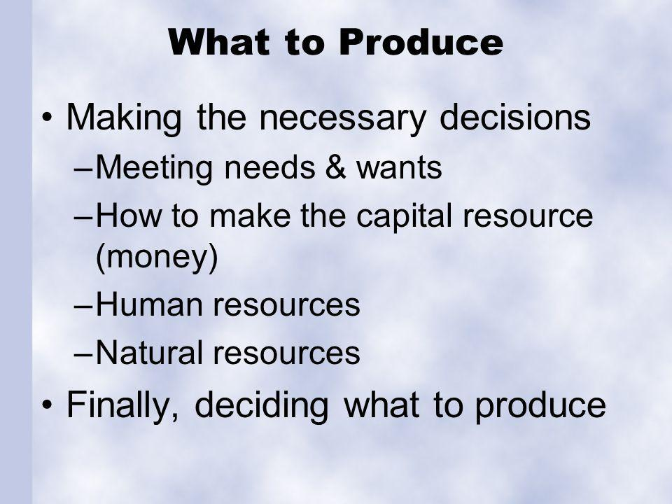 How to Produce Plan of action: Overall production schedules: