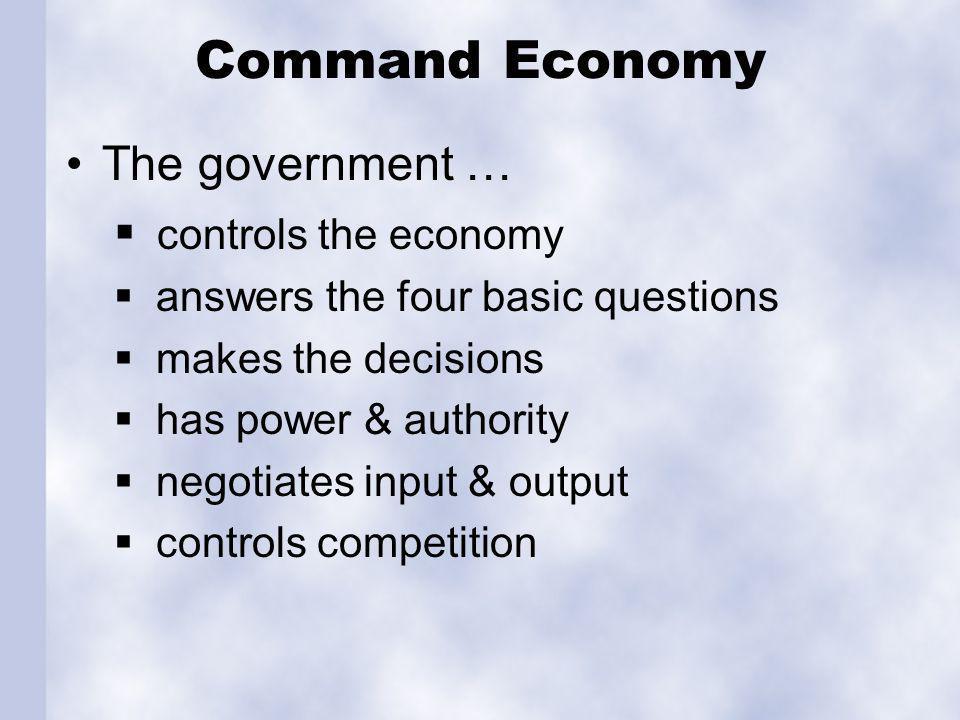 Market Economy Individuals…