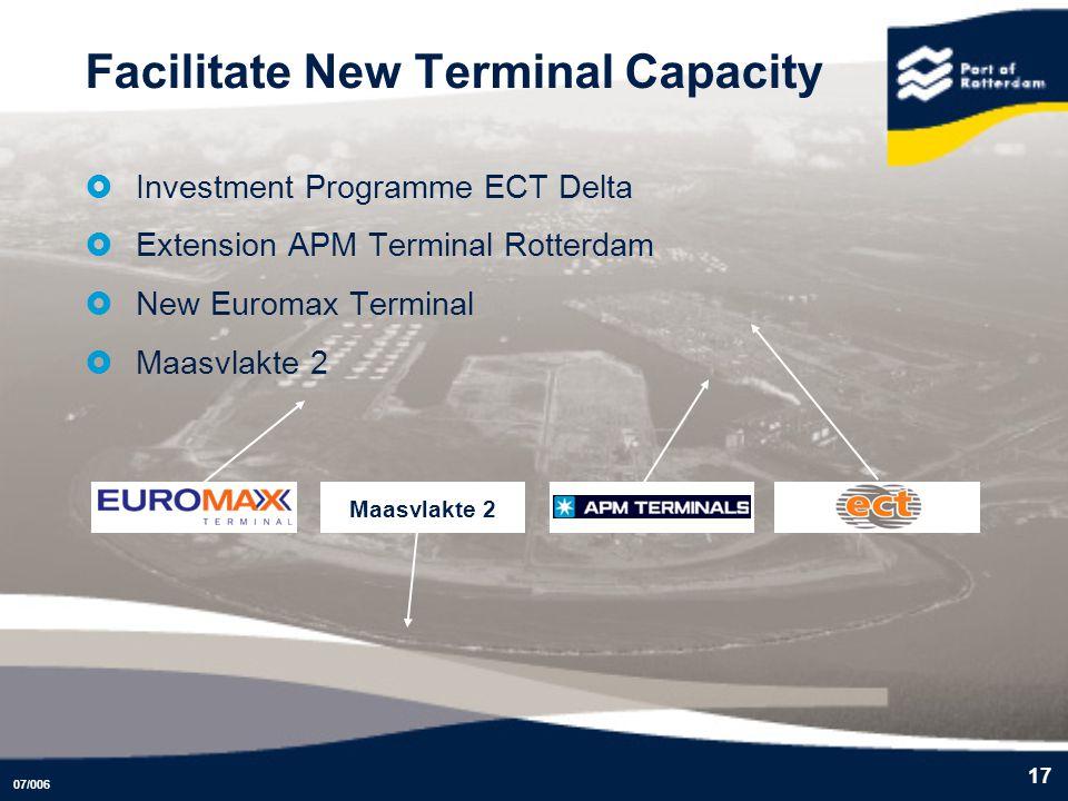 Facilitate New Terminal Capacity