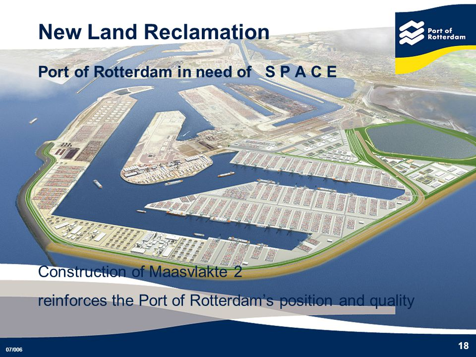 New Land Reclamation Port of Rotterdam in need of S P A C E