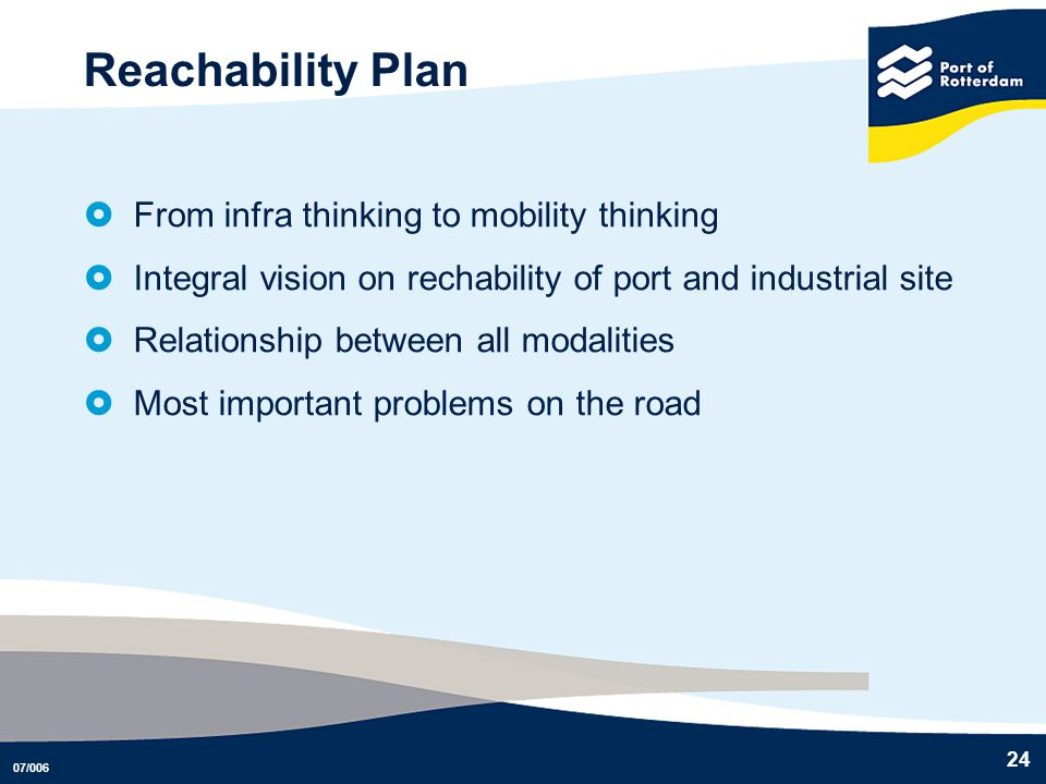 Reachability Plan From infra thinking to mobility thinking