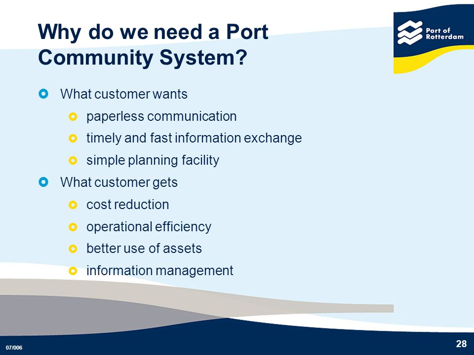 Why do we need a Port Community System