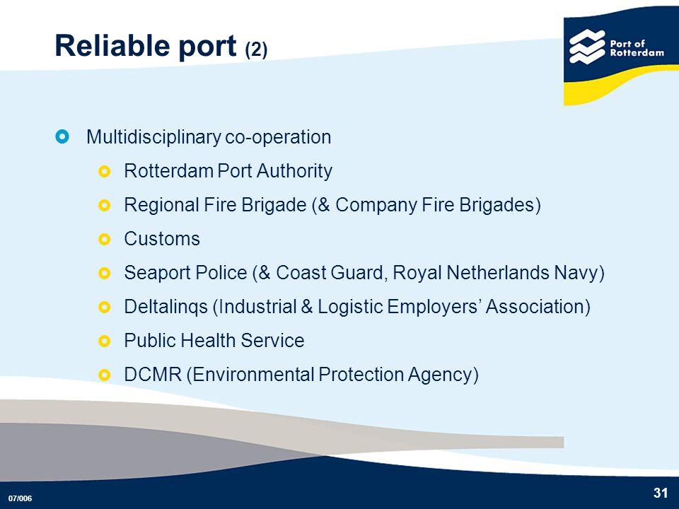 Reliable port (2) Multidisciplinary co-operation