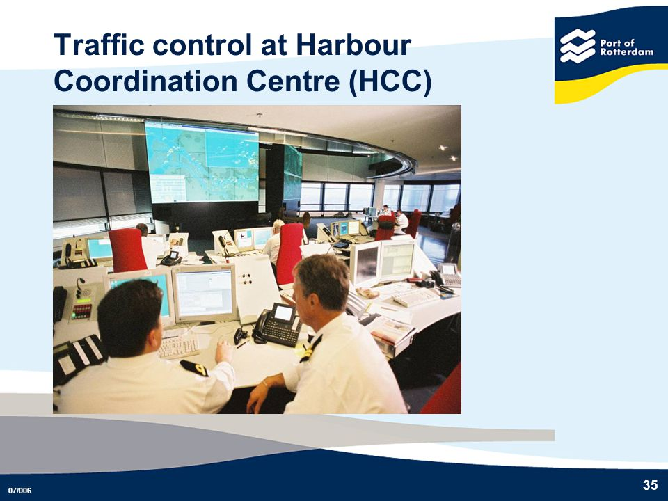 Traffic control at Harbour Coordination Centre (HCC)
