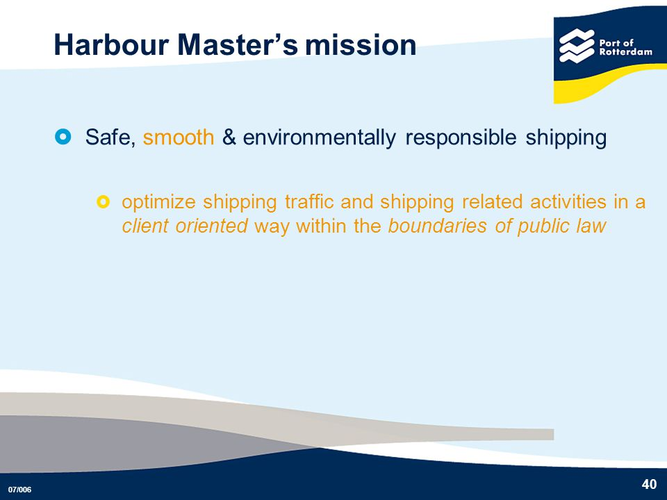 Harbour Master's mission