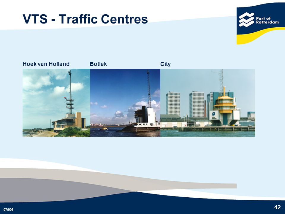 VTS - Traffic Centres Hoek van Holland Botlek City