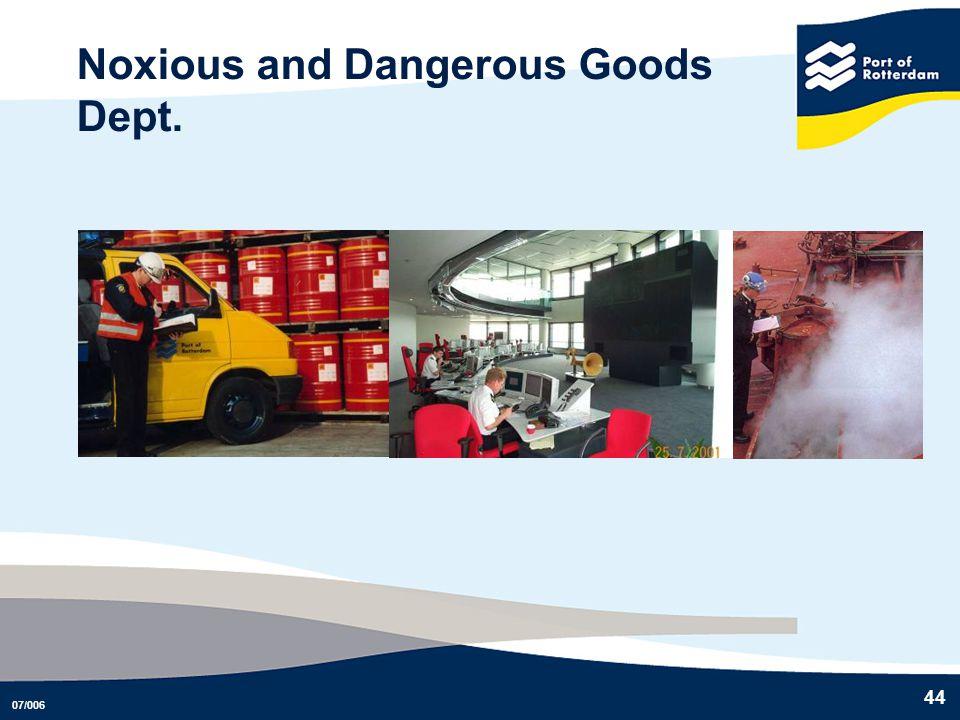 Noxious and Dangerous Goods Dept.