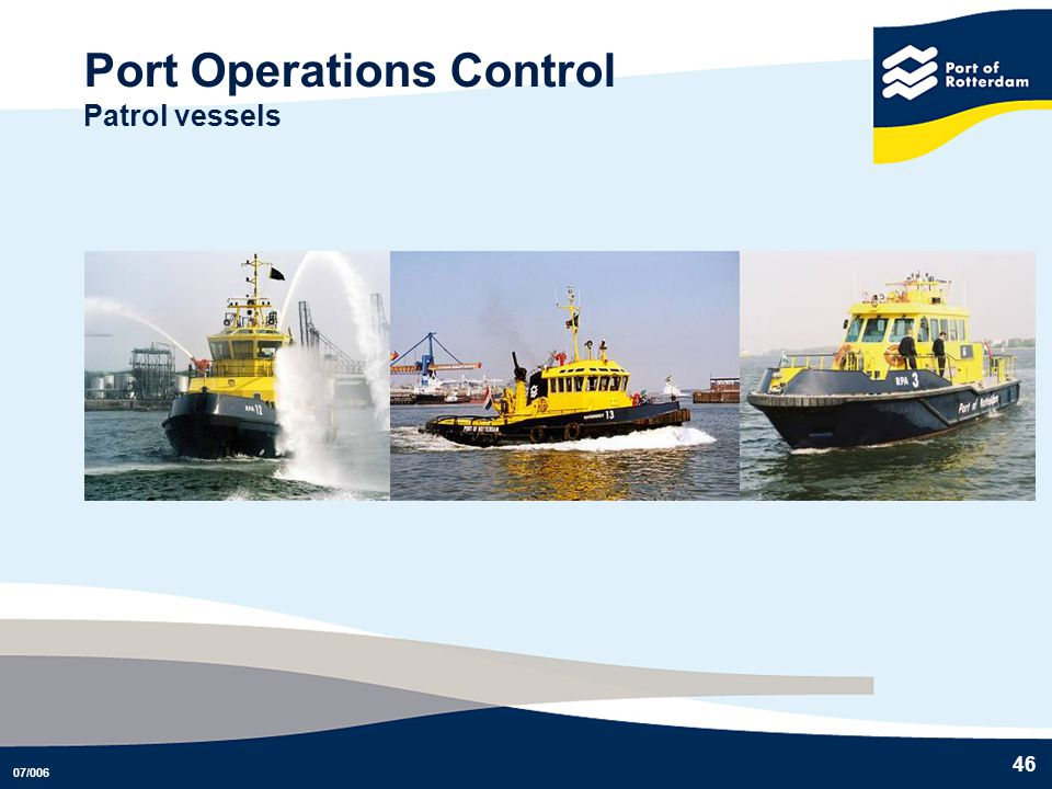 Port Operations Control Patrol vessels
