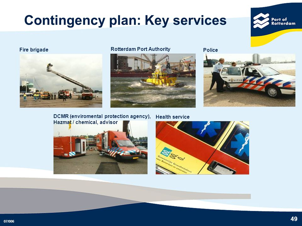 Contingency plan: Key services