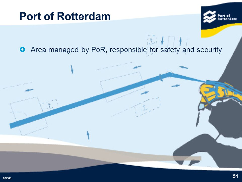 Port of Rotterdam Area managed by PoR, responsible for safety and security