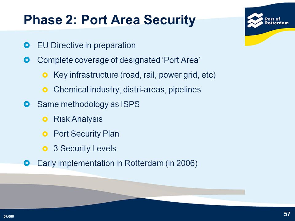 Phase 2: Port Area Security