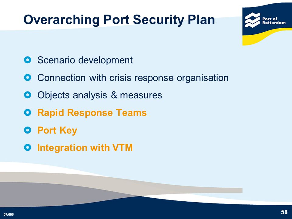 Overarching Port Security Plan