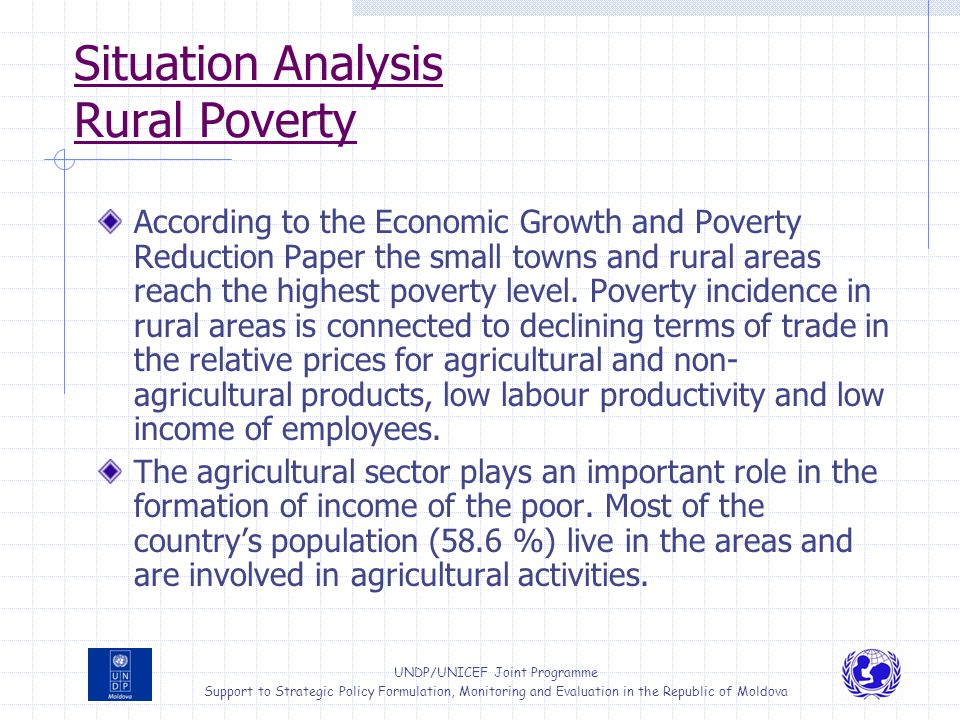 Situation Analysis Rural Poverty