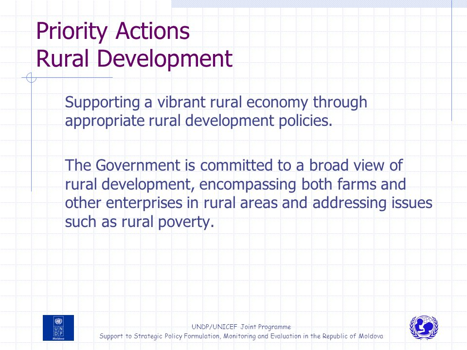 Priority Actions Rural Development