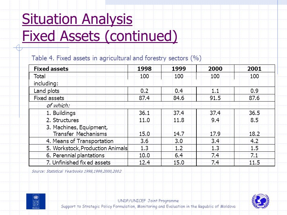 Situation Analysis Fixed Assets (continued)