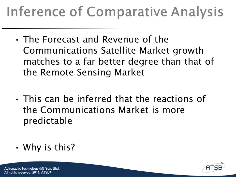 Inference of Comparative Analysis