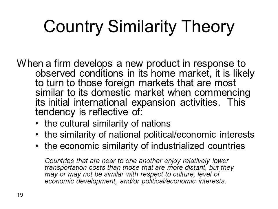 Country Similarity Theory